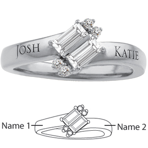 14kt White Gold Adoration Promise Ring