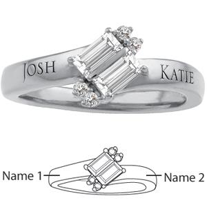 10kt White Gold Adoration Promise Ring