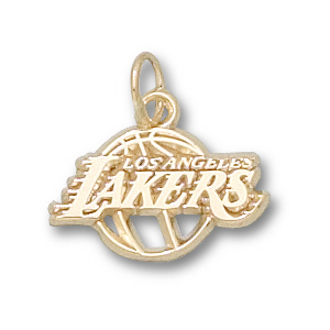 10kt Gold 3/8in Los Angeles Lakers Basketball Charm