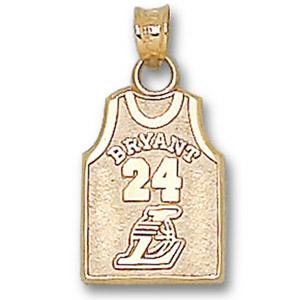 14kt Yellow Gold Kobe Bryant No. 24 Jersey Pendant