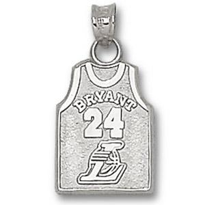 Sterling Silver Kobe Bryant No. 24 Jersey Pendant