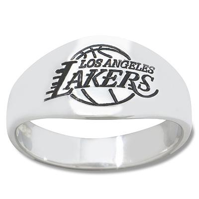 Sterling Silver Los Angeles Lakers Men's Enamel Ring