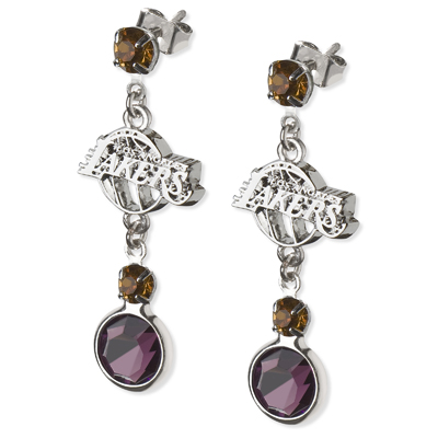 Los Angeles Lakers Crystal Logo Earrings
