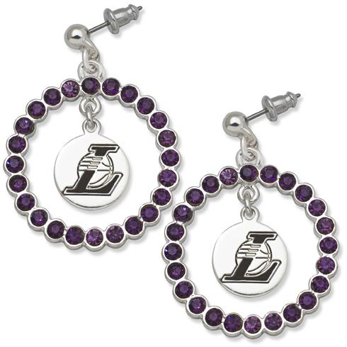 Los Angeles Lakers Spirit Crystal Logo Earrings