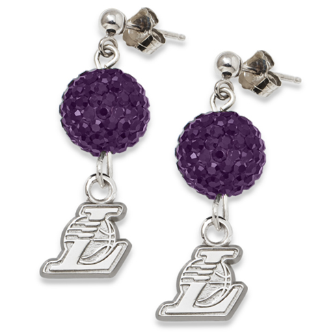 Sterling Silver Los Angeles Lakers Ovation Earrings
