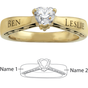 14kt Yellow Gold Bonded Promise Ring
