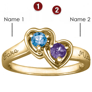 Cupid 10kt Yellow Gold Promise Ring