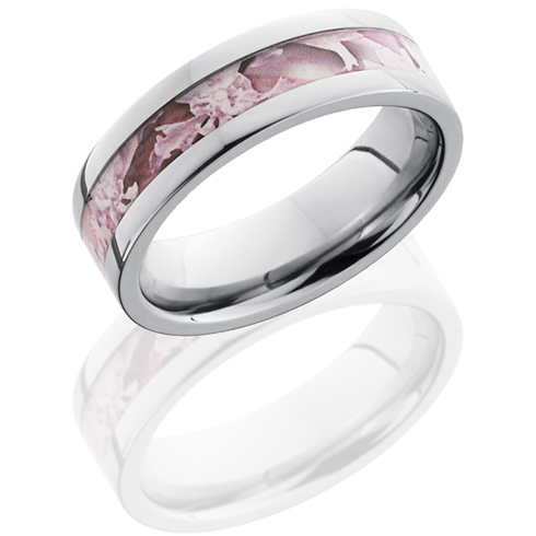 6mm Titanium King's Pink Shadow Camo Ring