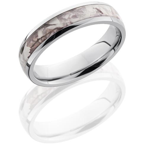 5mm Cobalt Chrome King's Snow Shadow Camo Ring