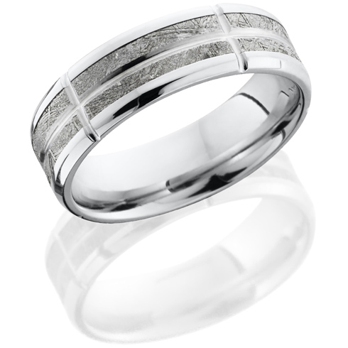 Cobalt Chrome 8mm Meteorite Ring with Hammer Finish