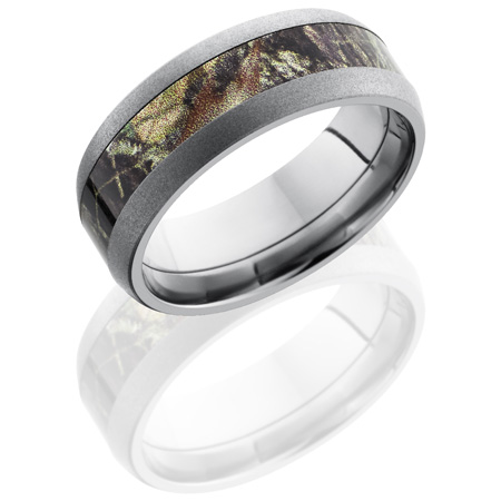 8mm Mossy Oak Cobalt Chrome Camo Ring with Beadblast Finish