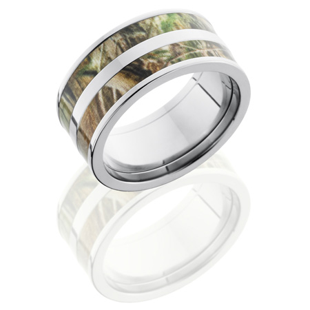 10mm Realtree Titanium Camo Ring with Split Inlay