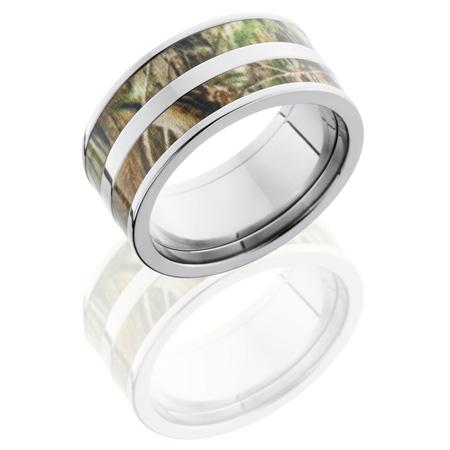10mm Realtree Titanium Camo Ring with Split Inlay