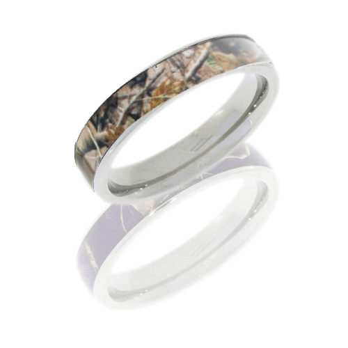 4mm Realtree Titanium Camo Ring