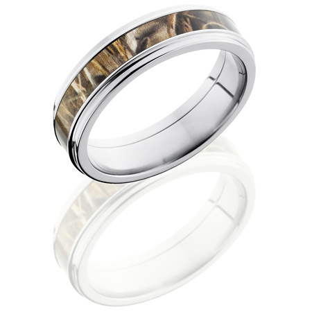 6mm Realtree Titanium Camo Ring with Grooved Edges