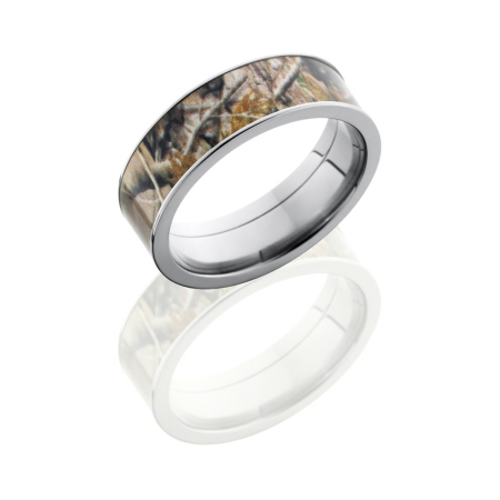 7mm Realtree Titanium Camo Ring
