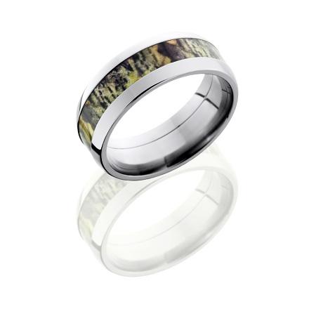 8mm Mossy Oak Titanium Camo Ring
