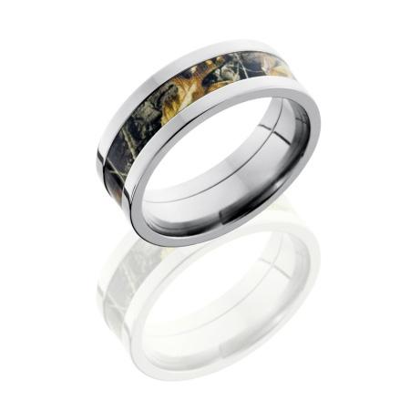 8mm Realtree Titanium Camo Ring