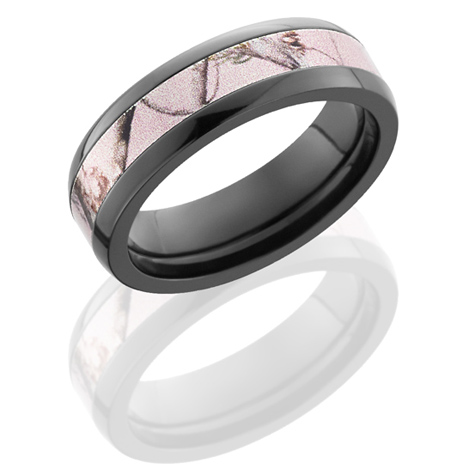 6mm Realtree Black Zirconium Pink Camo Ring Z6DPRTAP Joy Jewelers