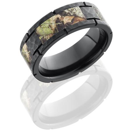 8mm mossy oak black zirconium camo ring with panels z8fshmo