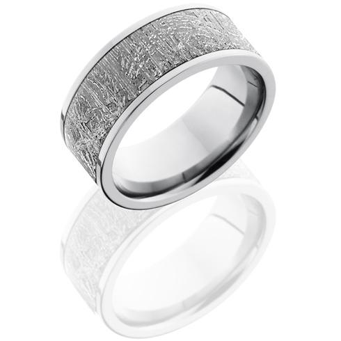 Titanium 7mm Flat Meteorite Ring