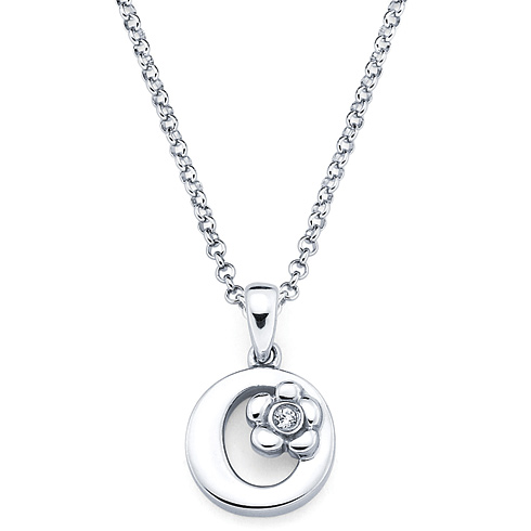 Little Diva Kid's Letter O Pendant with Diamond Accent