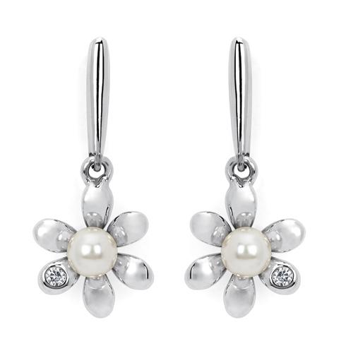 Little Diva Kid's Pearl Flower Earrings