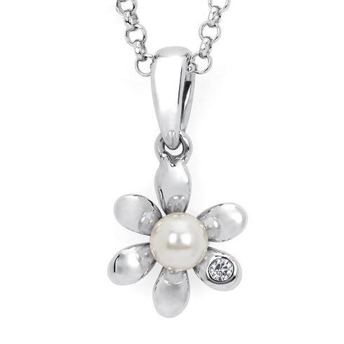 Little Diva Kid's Pearl Flower Pendant