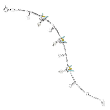 Tinker Bell Bracelet with Pearl - Sterling Silver