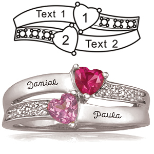 Sterling Silver Enamored Promise Ring