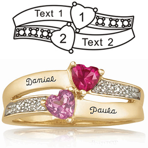 Gold-plated Sterling Silver Enamored Promise Ring