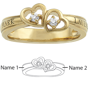 10kt Yellow Gold Fascination Promise Ring