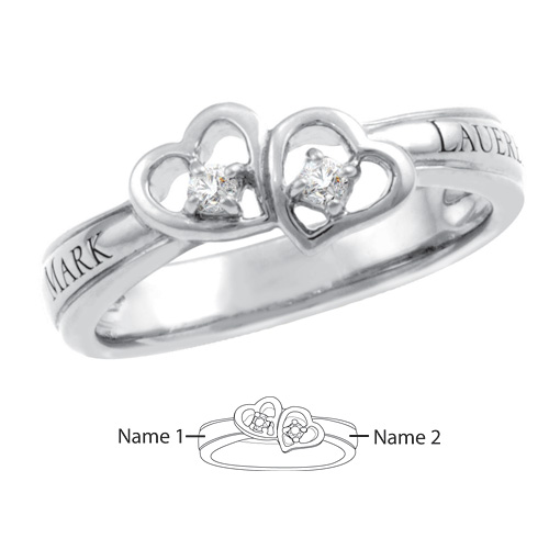 10kt White Gold Fascination Promise Ring