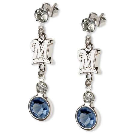 Milwaukee Brewers Logo Crystal Earrings