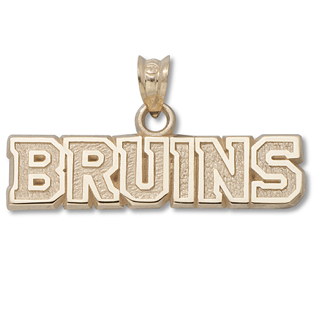 10kt Yellow Gold Boston Bruins Pendant