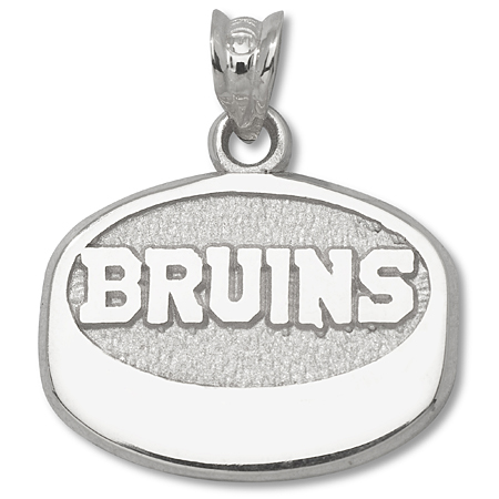 Sterling Silver Boston Bruins Puck Pendant