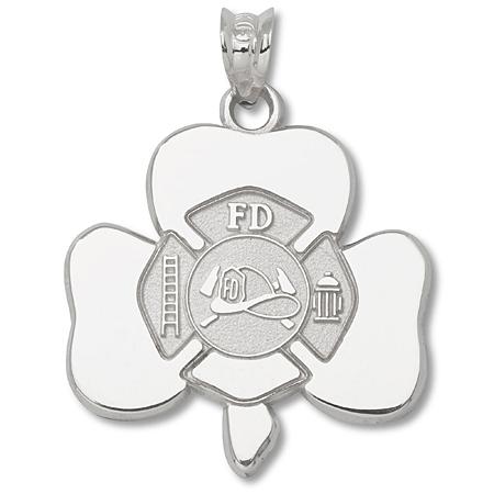 Sterling Silver Shamrock Maltese Cross 3/4in