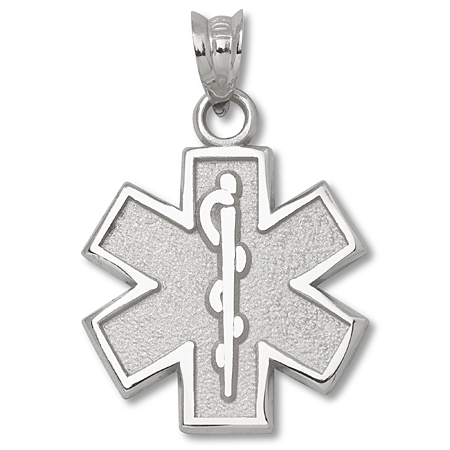 Sterling Silver 5/8in Star of Life Charm