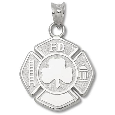 Sterling Silver 5/8in Maltese Cross Shamrock Charm