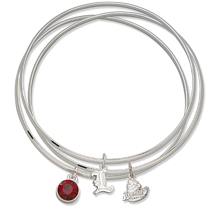 University of Louisville Triple Bangle Bracelet