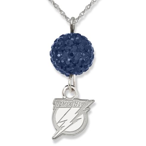 Sterling Silver Tampa Bay Lightning Crystal Ovation Necklace