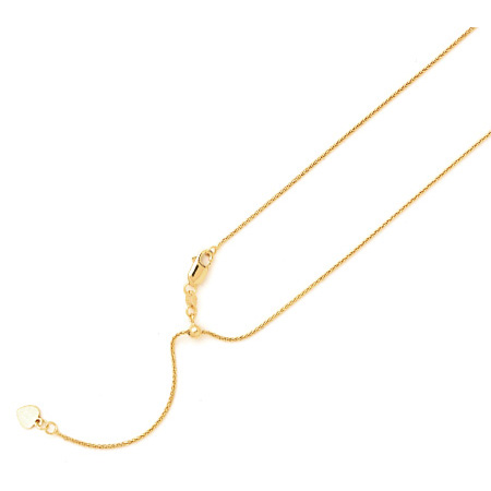 14kt Yellow Gold Adjustable Wheat Chain
