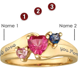 14kt Yellow Gold Jewel Mother's Ring