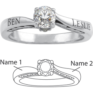 14kt White Gold Loyal Promise Ring