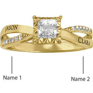 14kt Yellow Gold Lovely Promise Ring