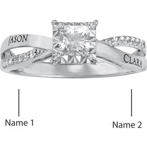 14kt White Gold Lovely Promise Ring