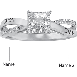 Lovely Promise Ring Sterling Silver