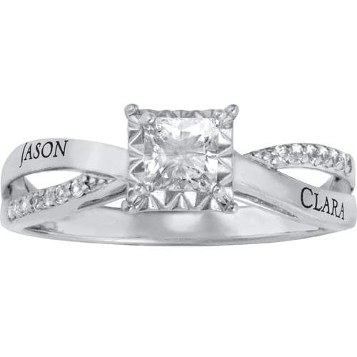 Lovely Promise Ring Sterling Silver