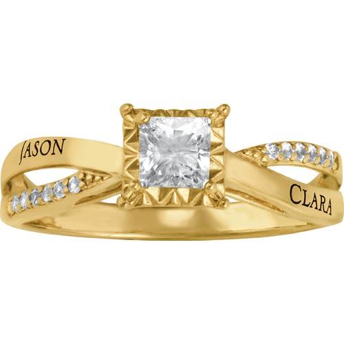 Lovely Promise Ring in Gold