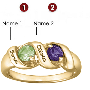 Melodic Rounds 14kt Yellow Gold Mother's Ring